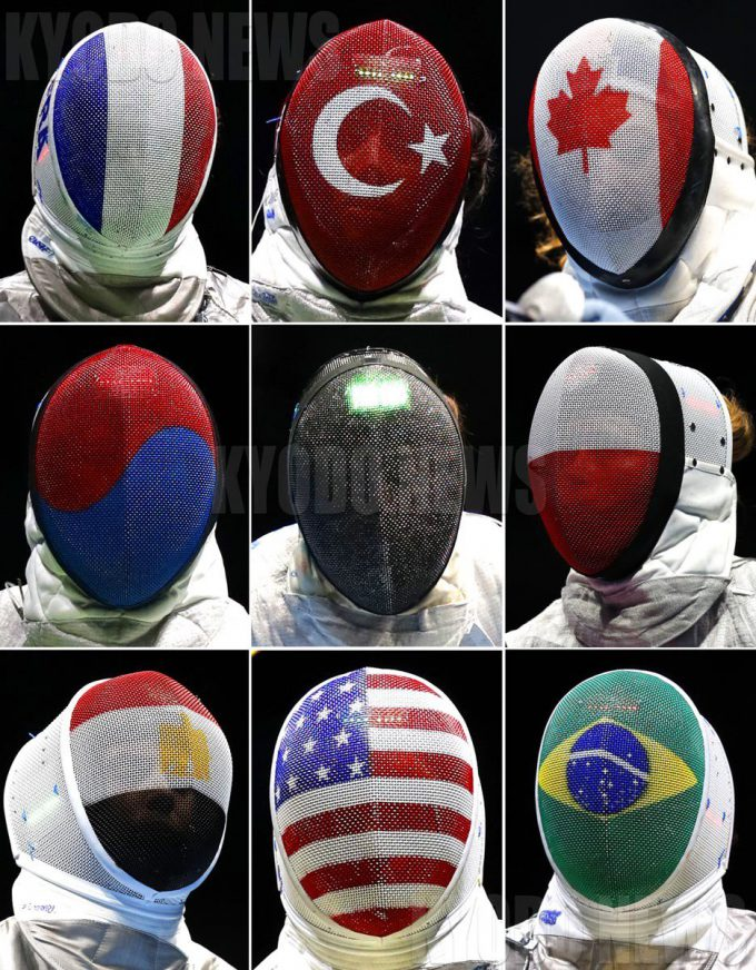 各国のフェンシング国旗マスク