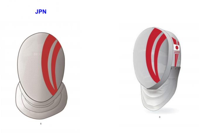 日本のフェンシングマスク