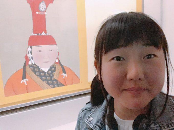 そっくり! 女子高生が台湾の国立故宮博物院で自分の前前前世を発見(笑)