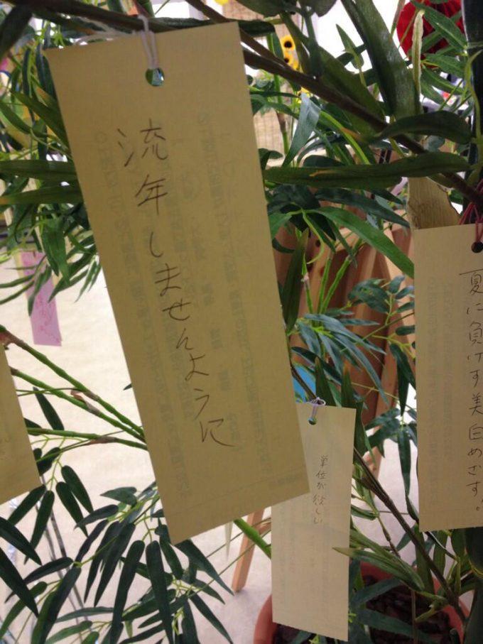 【七夕短冊の誤植おもしろ画像】大学生が書いた七夕短冊の願い事が叶いそうにない(笑)