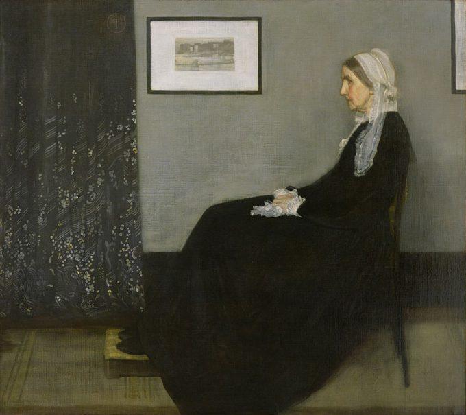 ホイッスラー灰色と黒のアレンジメント - 母の肖像