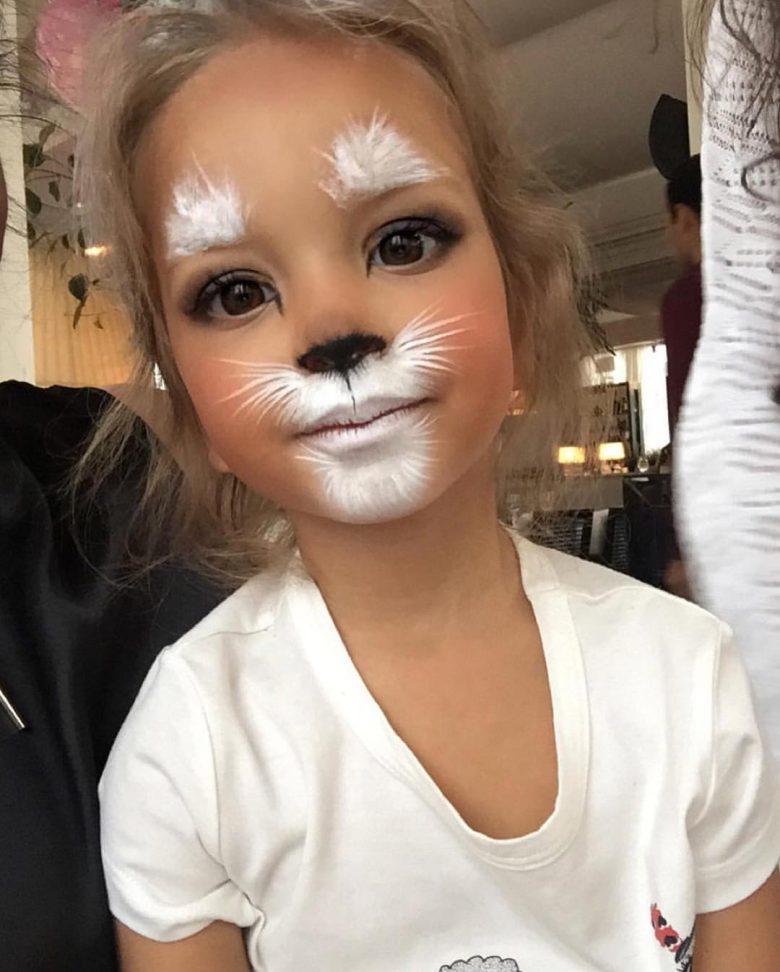【海外ハロウィンおもしろメイク画像】外国人女の子のカメラアプリSNOW風メイクがハロウィンにぴったり(笑)