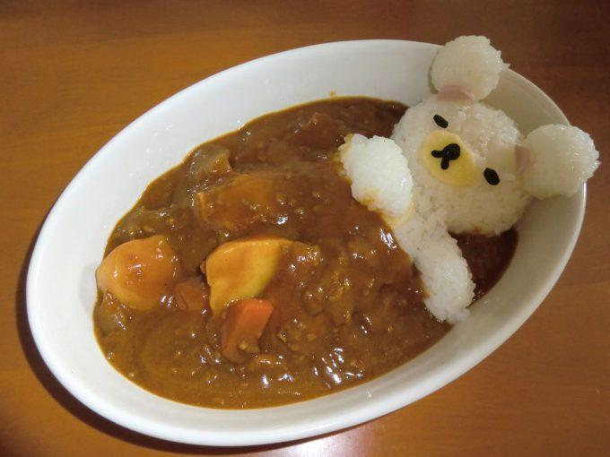 【食べ物おもしろ画像】すやすや! リラックマが寝てるような「リラックマカレー」が美味しそうでかわいい(笑)