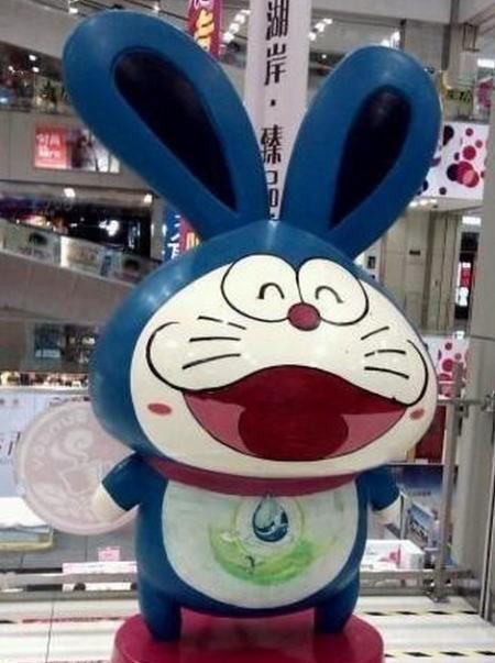 耳長い! 中国で見かけたドラえもんみたいなキャラクター(笑)