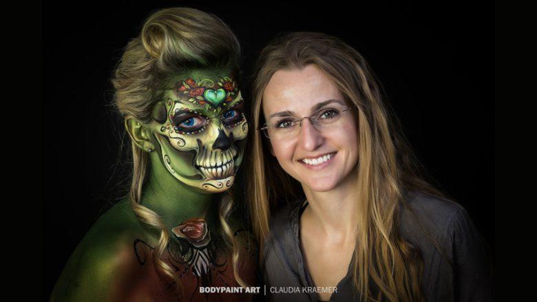 【海外ハロウィンおもしろメイク画像】Claudia Kraemer