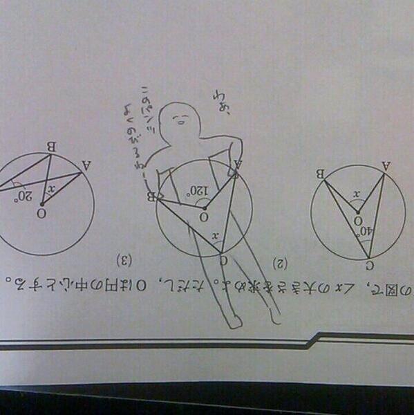 伸びる! 数学の問題に落書きをしたらパンツを引っ張る絵になった(笑)