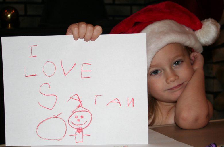 【クリスマスの誤字脱字・誤植おもしろ画像】サンタ大好き! 子どもが描いた「I LOVE SANTA」が壮絶な間違い(笑)