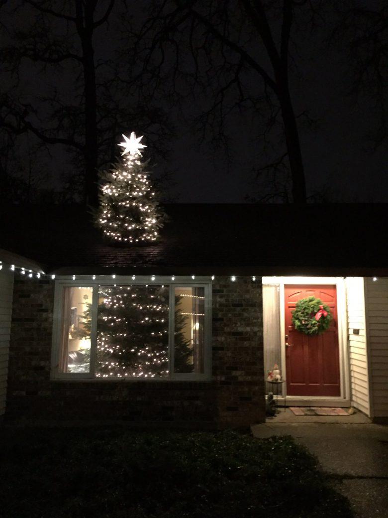 突き抜け! リビングに収まるはずのない約6メートルのクリスマスツリーを買ったら(笑)