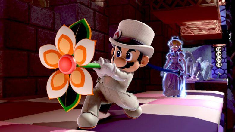 【ゲームのスーパーマリオおもしろ画像】ゼルダ姫にプロポーズするマリオの背後に鬼の形相のピーチ姫(笑)
