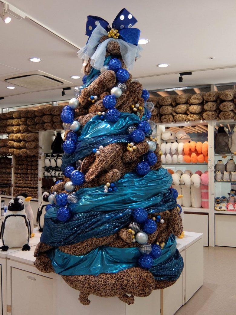 2018年の京都水族館のオオサンショウウオクリスマスツリー
