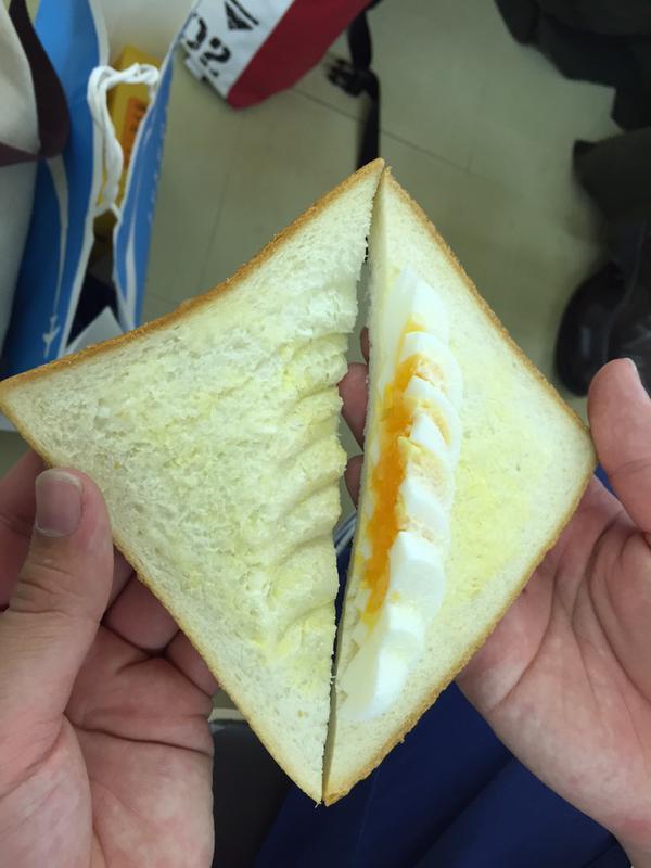 【食べ物おもしろ画像】食品詐欺!福岡空港のタマゴサンドイッチ(笑)