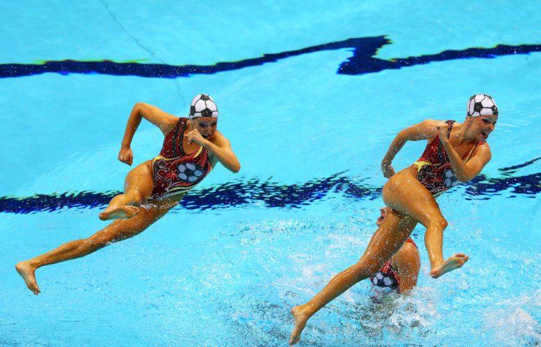 2012ロンドン五輪シンクロで忍法「水走の術」(笑)