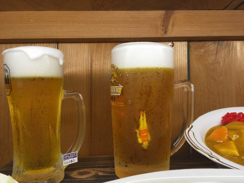 あー!ビールに沈みゆくコップのフチ子(笑)