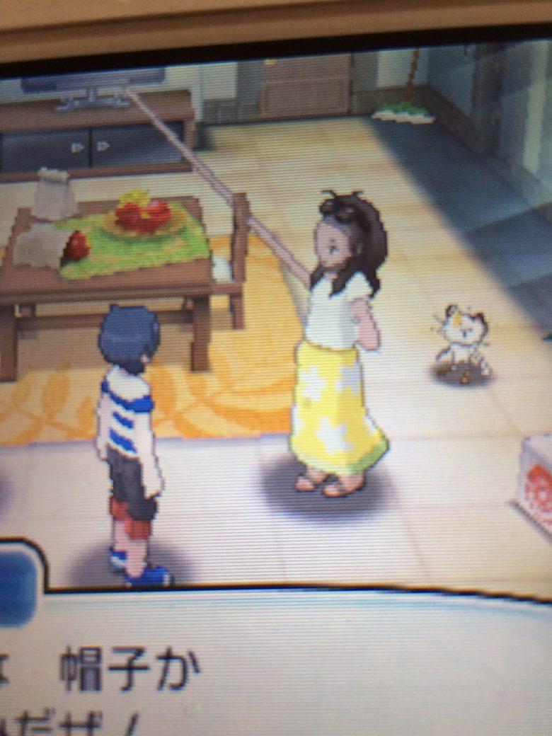 ポケモンサンムーンでママの手が伸びるゲームバグ(笑)