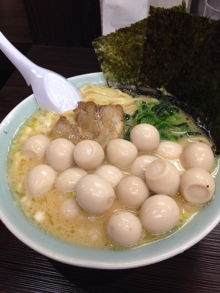【食べ物おもしろ画像】横浜家系らーめん「魂心家」でうずらを多めにしようとチケットを5枚買ったら(笑)