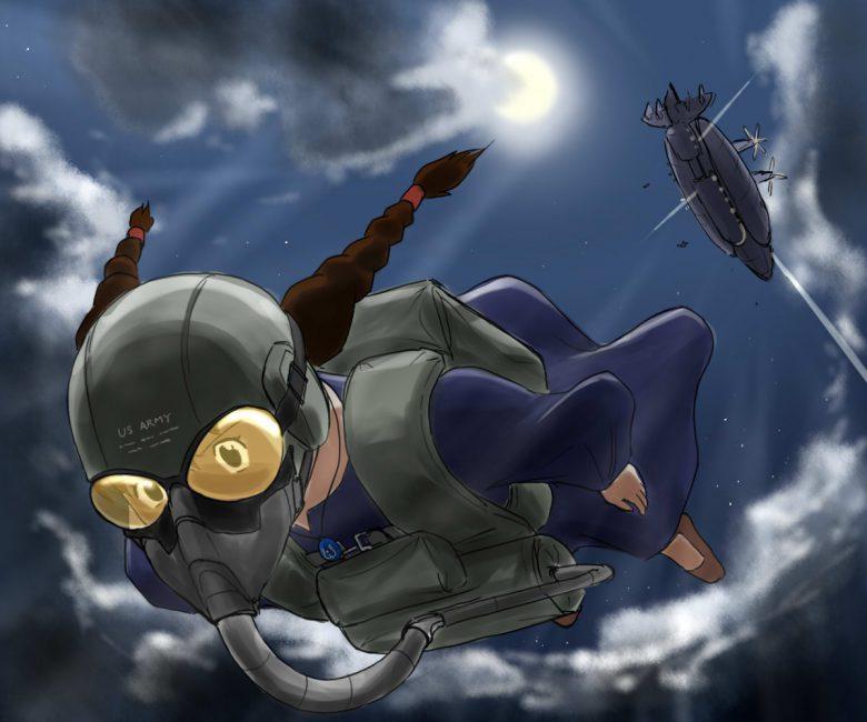 【ラピュタパロディおもしろイラスト画像】ラピュタで空から降ってきたメタルギアソリッド風シータ(笑)