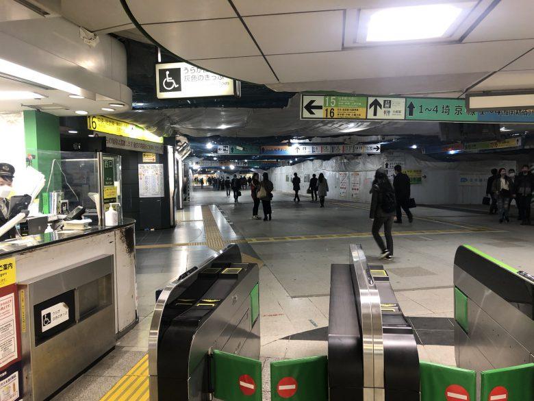 【コロナ禍の新宿駅おもしろ画像】新型コロナの影響でJR新宿駅西口から東口が見えるという驚きの光景(笑)