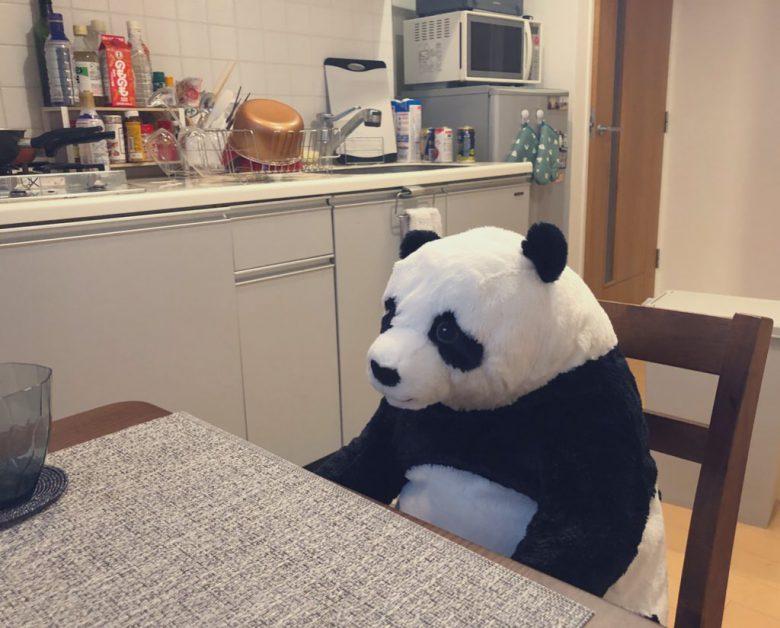 【在宅勤務おもしろ画像】在宅勤務のおかげで愛着が湧いたパンダのぬいぐるみがとてもシュール(笑)