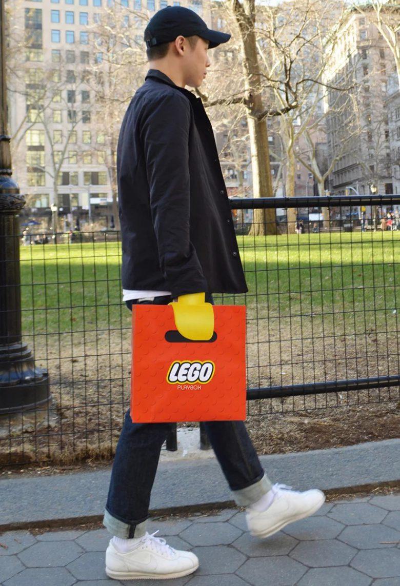 誰でもレゴになれるレゴバッグ(笑)