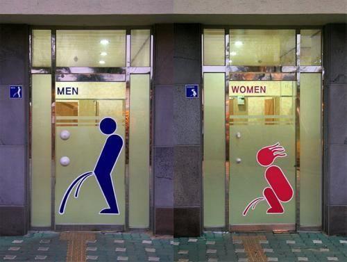 イマイチな公衆トイレのサイン(笑)