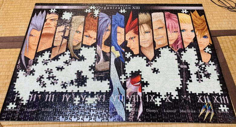 キングダムハーツのジグソーパズルが真っ黒で難しすぎ(笑)