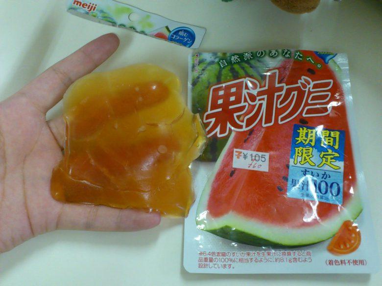 【猛暑で溶ける果汁グミおもしろ画像】暑さのせいですごいことになった果汁グミ(笑)