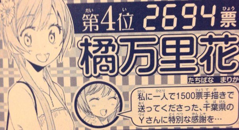 【漫画ニセコイおもしろ画像】漫画『ニセコイ』の人気投票で1500票も投票する千葉県のYさん(笑)