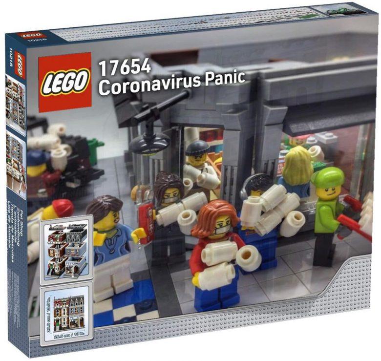 【レゴのコロナウイルスパニックおもしろ画像】レゴ新商品「コロナウイルスパニック」(笑)