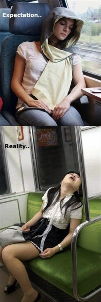 電車で眠るときの理想と現実(笑)