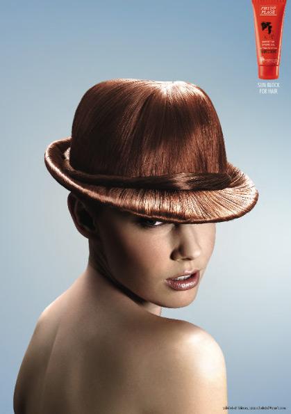 帽子みたいなヘアスタイル(笑)