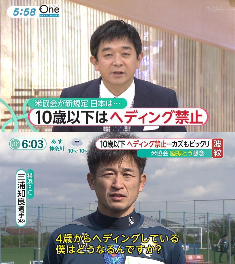 【サッカー三浦知良のインタビューおもしろ画像】「10歳以下はヘディング禁止」を聞いたカズの反応がおもしろい(笑)