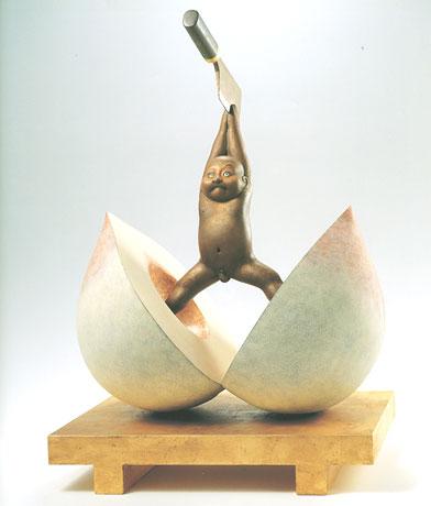 籔内佐斗司さんの作品『桃太郎、白刃取り』がおもしろい(笑)