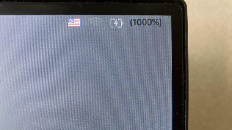 Macがバグって充電が1000%になる(笑)