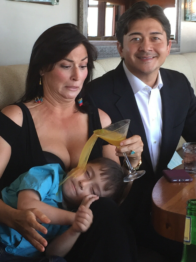 家族写真を撮影中に子どもに起きたハプニング(笑)