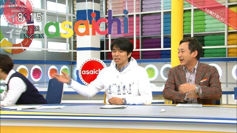 【つけまつ毛が取れるテレビハプニングおもしろ画像】NHK『あさイチ』で有働由美子アナのつけまつ毛が取れるハプニング(笑)