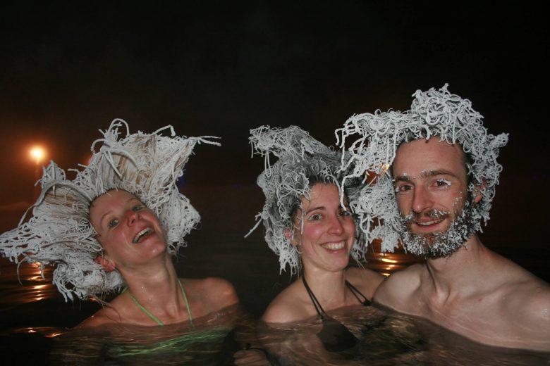 カナダのタキニ温泉のヘアフリーズコンテスト2015優勝写真がすごい(笑)