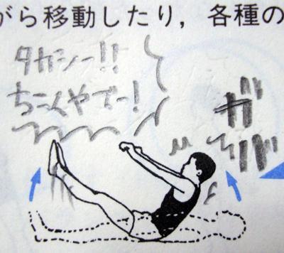 【教科書イラスト落書きおもしろ画像】体育教科書の運動イラストにくだらない落書き(笑)