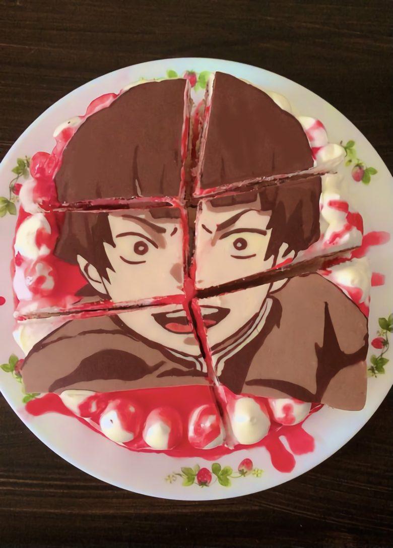【鬼滅の刃おもしろ画像】那田蜘蛛山でバラバラにされたサイコロステーキ先輩のケーキ(笑)