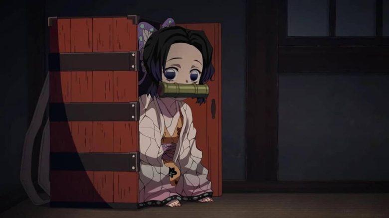 禰豆子の箱に入るデフォルメ胡蝶しのぶ
