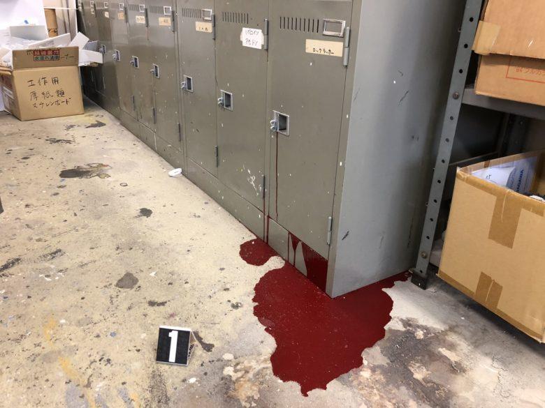 【猛暑おもしろ画像】暑さでロッカー内で爆発したペンキ缶が完全に事件現場(笑)