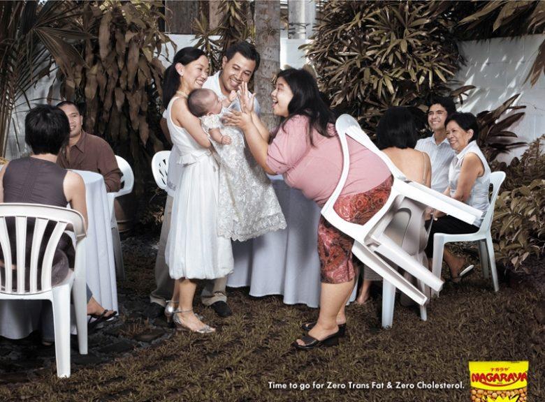 【広告おもしろ画像】フィリピンのゼロカロリーお菓子「Nagaraya」のおもしろい広告(笑)