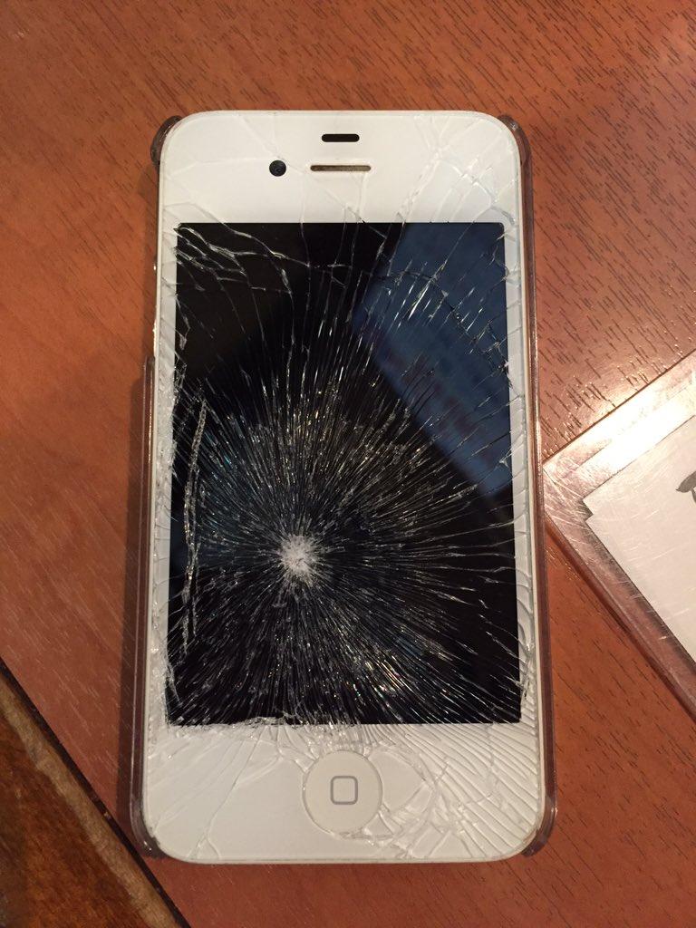 iPhone液晶割れと一致する悟空とご飯のかめはめ波(笑)