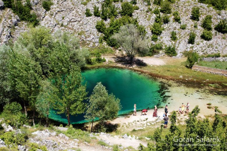 クロアチアのツェティナ川水源