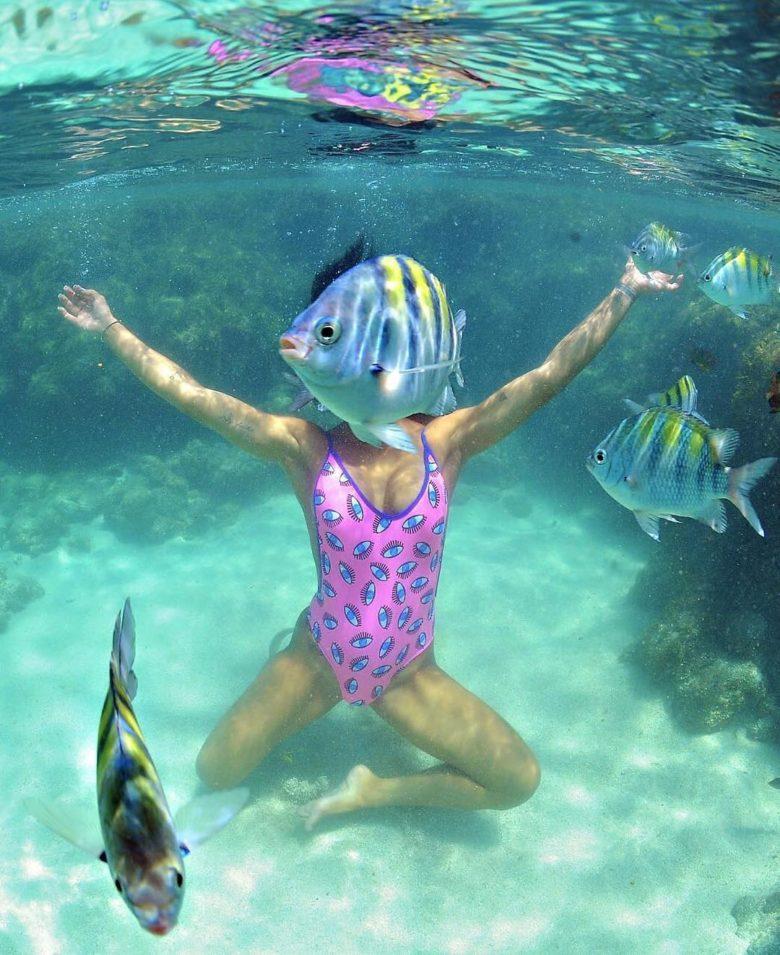 【海おもしろ画像】海の撮影でナイスタイミングで映り込んでくる魚(笑)