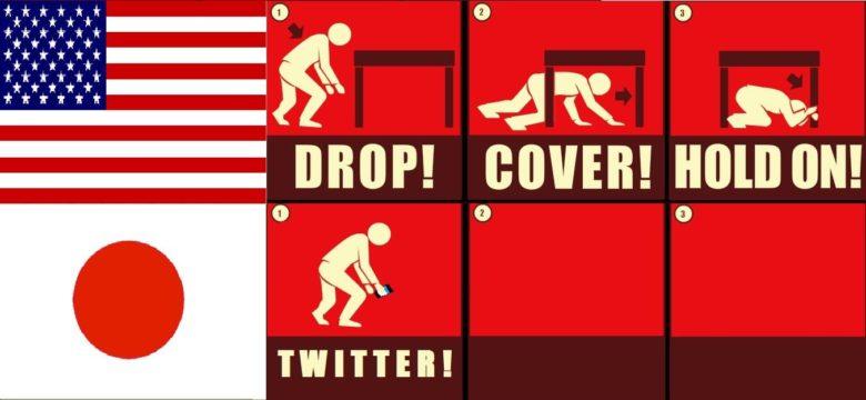 【地震おもしろ画像】地震が起きた時のアメリカ人と日本人の違い(笑)