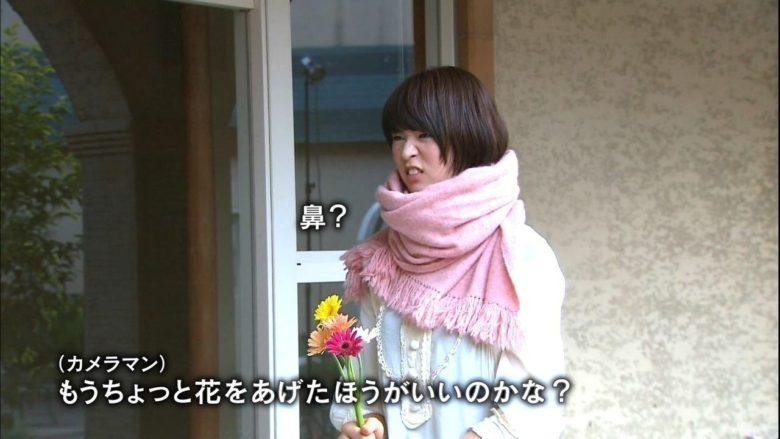 【テレビおもしろ画像】撮影で「花」と「鼻」を勘違いする木村沙織(笑)