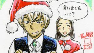 言ったのに! クリスマスに「喫茶ポアロ」の榎本梓が安室透に渡したサンタ衣装(笑)