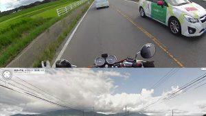 撮影! バイクに乗っていてGoogleカーに撮影された記念にGoogleカーを撮影する男性(笑)