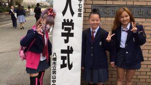 中学生? いまどきの女子中学生の入学式ファッション(笑)